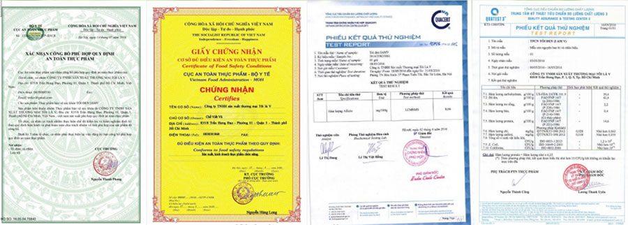 Giấy tờ pháp lý sản phẩm Tỏi Đen IAmV
