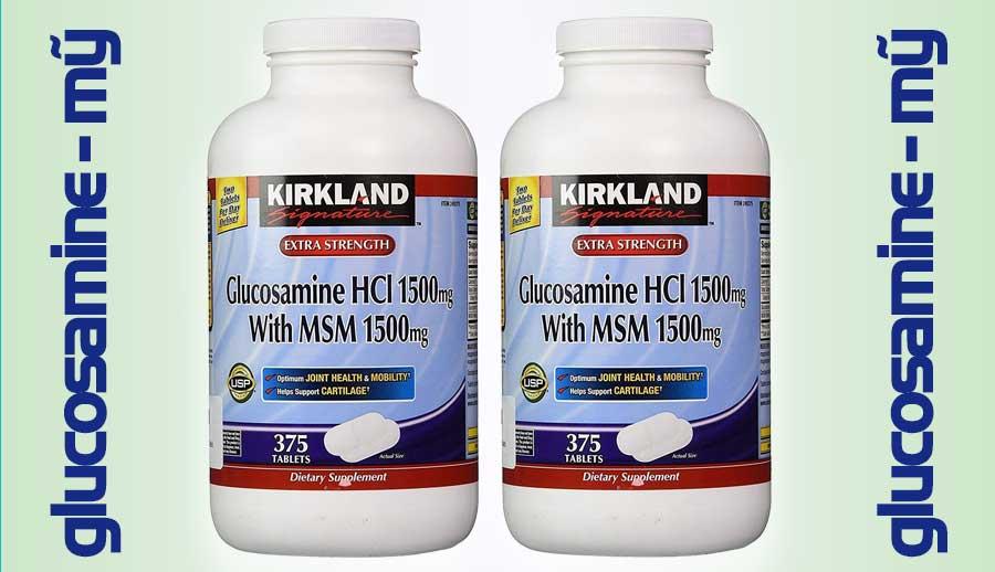Glucosamine kirkland Mỹ