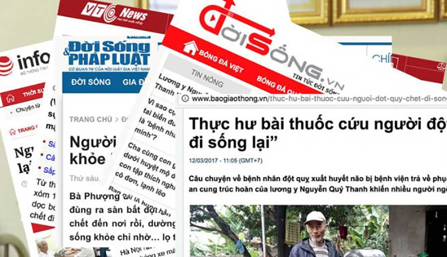 Một số hình ảnh chụp màn hình từ những bài báo viết về An Cung Trúc Hoàn!