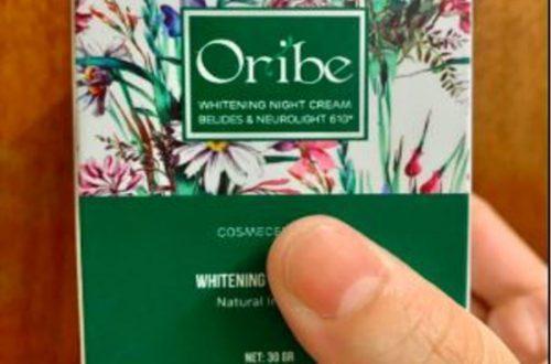 Bao bì của sản phẩm kem dưỡng trắng da ban đêm Oribe