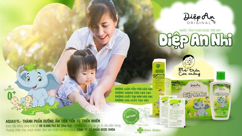 Diệp An Nhi, giúp làm mềm và giữ ẩm cho da, vết hăm, nẻ, muỗi đốt!