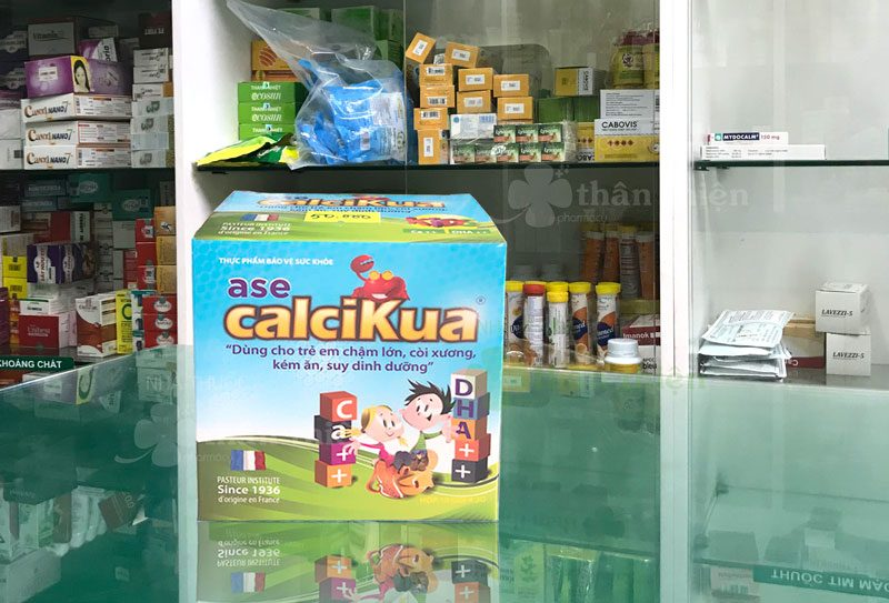 Ase Calcikua, hỗ trợ cải thiện tình trạng thiếu canxi, cải thiện còi xương!